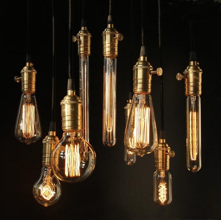 Chuôi thả đèn Edison có công tắc