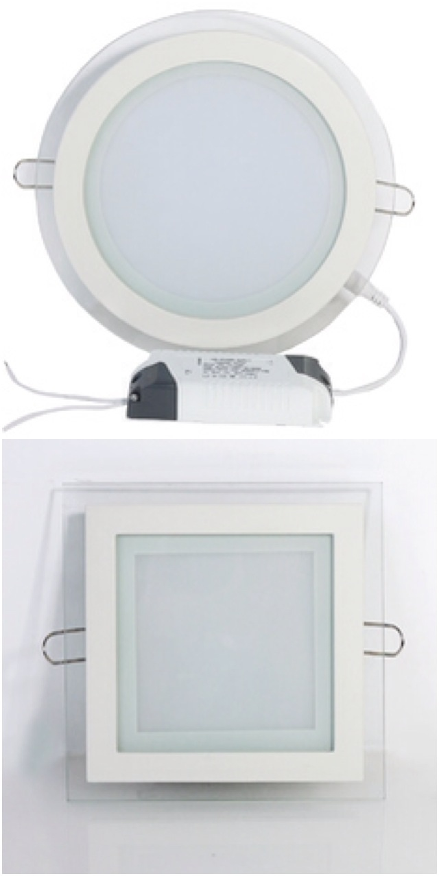 led âm trần mặt kính 12w