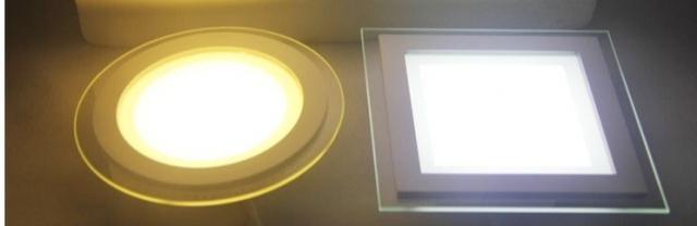 led âm trần mặt kính 3 chế độ 12w